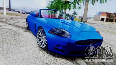 Jaguar XKR-S 2011 Cabrio for GTA San Andreas back view