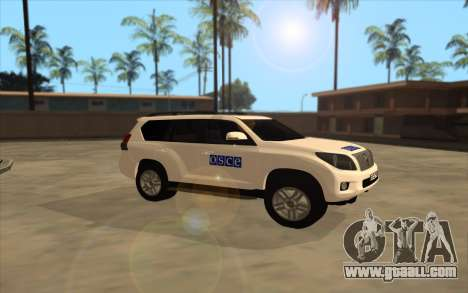 Toyota Land Cruiser OSCE (ОБСЕ) for GTA San Andreas left view
