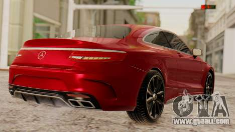 Mercedes-Benz S63 Coupe for GTA San Andreas left view