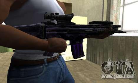 Blue Scan M4 for GTA San Andreas second screenshot