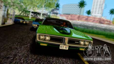 Dodge Charger Super Bee 426 Hemi (WS23) 1971 PJ for GTA San Andreas upper view