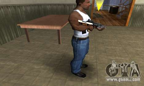 Gold AUG for GTA San Andreas third screenshot