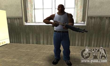 Brown Combat Shotgun for GTA San Andreas third screenshot