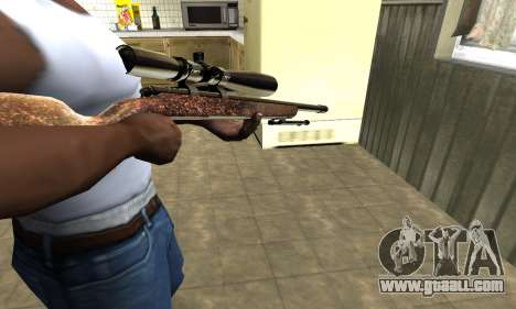 Gold Sniper Rifle for GTA San Andreas