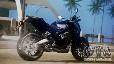 Honda CB650F Azul for GTA San Andreas left view