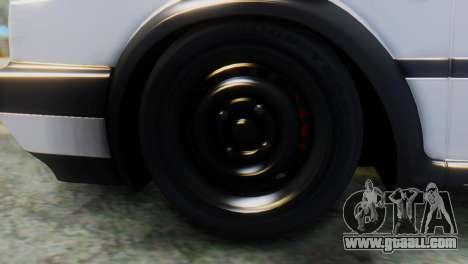 Volkswagen Golf 2 for GTA San Andreas back left view
