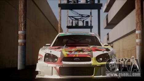 Subaru Impreza 2003 Love Live Muse Team Itasha for GTA San Andreas back view