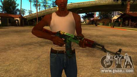 AK-47 Fire Serpent for GTA San Andreas
