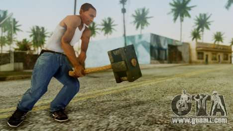 Bogeyman Hammer from Silent Hill Downpour v1 for GTA San Andreas third screenshot