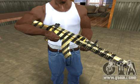 Gold Lines AK-47 for GTA San Andreas