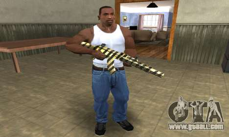 Gold Lines AK-47 for GTA San Andreas third screenshot