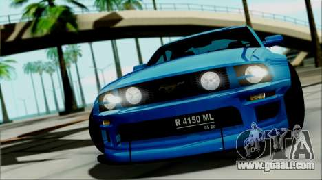 Ford Mustang GT Modification for GTA San Andreas right view