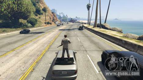 GTA 5 Stand On Moving Cars