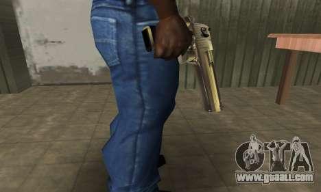 Full of Gold Deagle for GTA San Andreas second screenshot