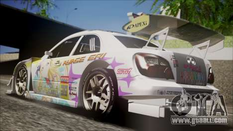 Subaru Impreza 2003 Love Live Muse Team Itasha for GTA San Andreas back left view
