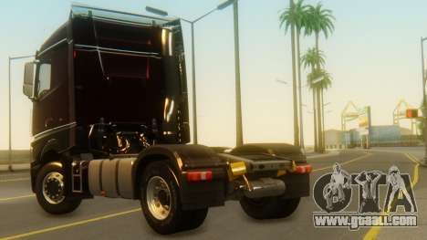 Mercedes-Benz Actros MP4 Stream Space Black for GTA San Andreas left view