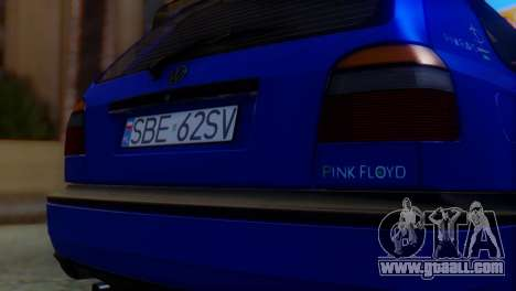 Volkswagen Golf 3 Pink Floyd for GTA San Andreas back view