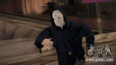 Mercenary mafia in the hood and mask for GTA San Andreas