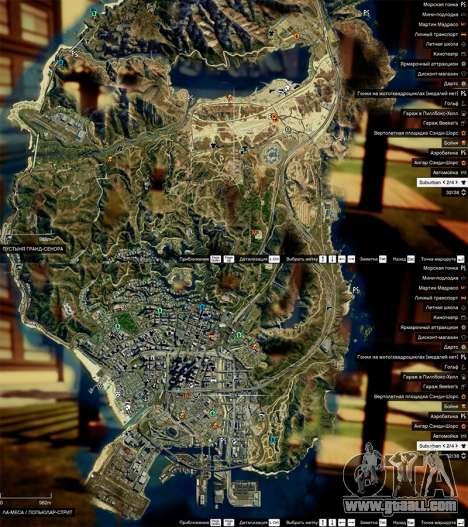 Satellite map in 2K for GTA 5