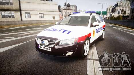 Volvo V70 2014 Norwegian Police [ELS] for GTA 4