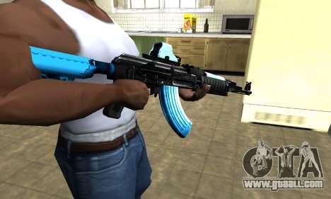 Blue Scan AK-47 for GTA San Andreas second screenshot