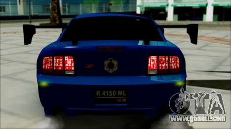 Ford Mustang GT Modification for GTA San Andreas inner view