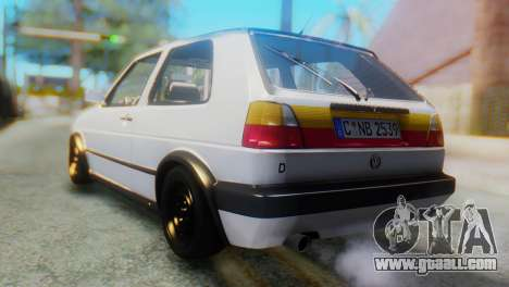 Volkswagen Golf 2 for GTA San Andreas left view