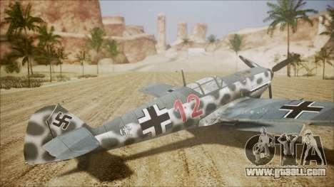 Messerschmitt BF-109 E-4 IJAAF for GTA San Andreas left view