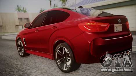 BMW X6M 2015 for GTA San Andreas left view