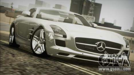 Mercedes-Benz SLS AMG 2013 for GTA San Andreas inner view
