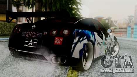 Nissan GT-R R35 Black Rock Shooter Itasha for GTA San Andreas left view