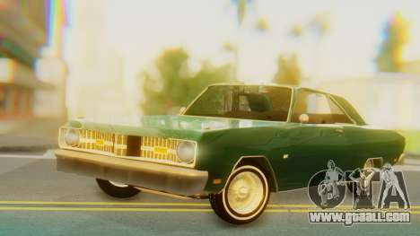 Dodge Dart Coupe for GTA San Andreas back left view