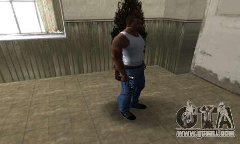 Blue Snow Deagle for GTA San Andreas third screenshot