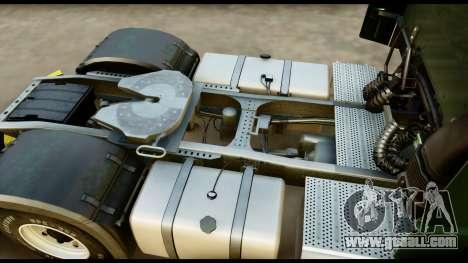 Mercedes-Benz Actros MP4 4x2 Exclusive Interior for GTA San Andreas back view