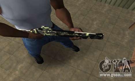 Camo Shotgun for GTA San Andreas second screenshot