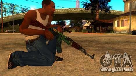 AK-47 Fire Serpent for GTA San Andreas second screenshot