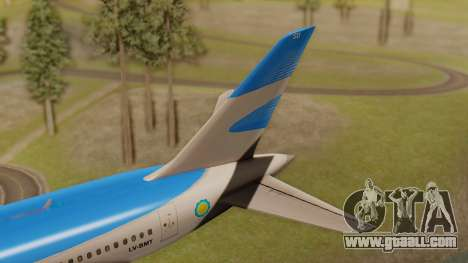 Boening 737 Argentina Airlines for GTA San Andreas back left view