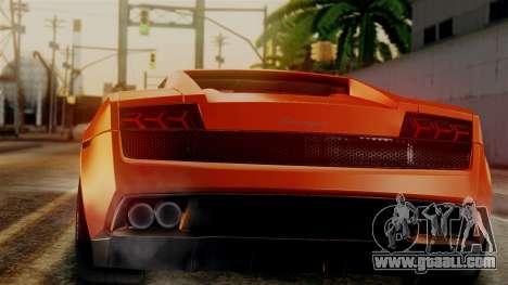 Lamborghini Gallardo Superleggera 2011 for GTA San Andreas left view
