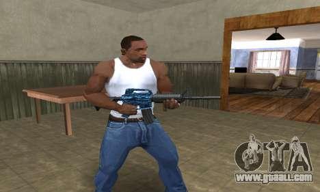 M4 Blue Snow for GTA San Andreas third screenshot
