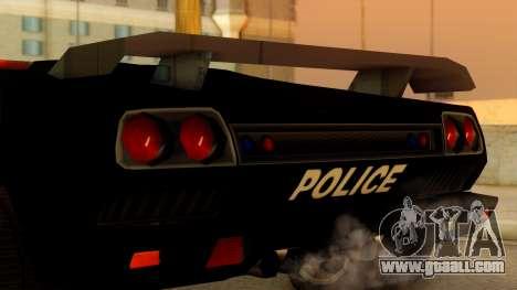 Lamborghini Diablo Police SA Style for GTA San Andreas right view