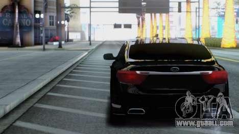 Kia Quoris for GTA San Andreas back view