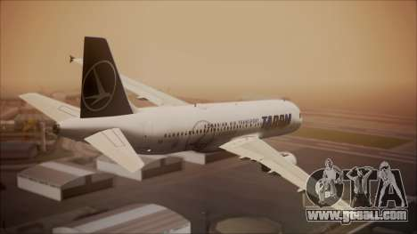 Airbus A320 TAROM Romania for GTA San Andreas left view