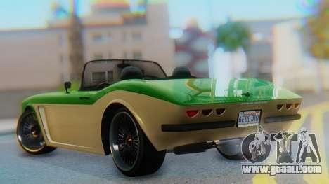 Invetero Coquette BlackFin v2 GTA 5 Plate for GTA San Andreas left view