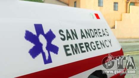 Premier Ambulance for GTA San Andreas right view