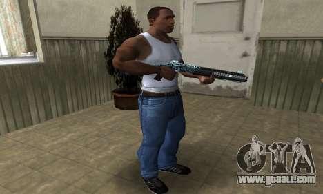Blue Snow Shotgun for GTA San Andreas third screenshot