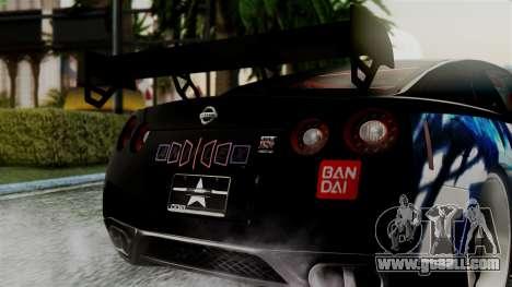 Nissan GT-R R35 Black Rock Shooter Itasha for GTA San Andreas right view