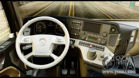 Mercedes-Benz Actros MP4 6x4 Standart Interior for GTA San Andreas right view