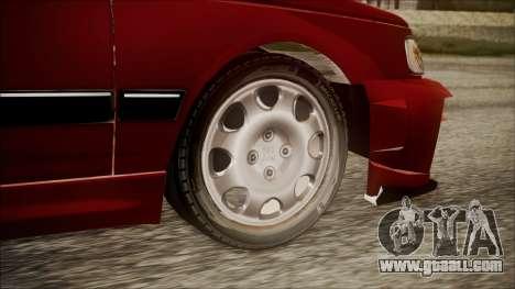 Peugeot Pars The Best Full Sport v1 for GTA San Andreas back left view