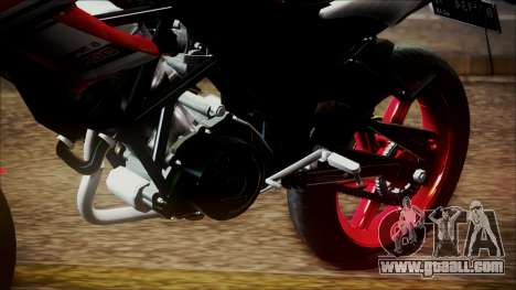 Honda CB150R Streetfire for GTA San Andreas back view