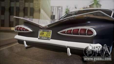Chevrolet Impala 1959 for GTA San Andreas inner view